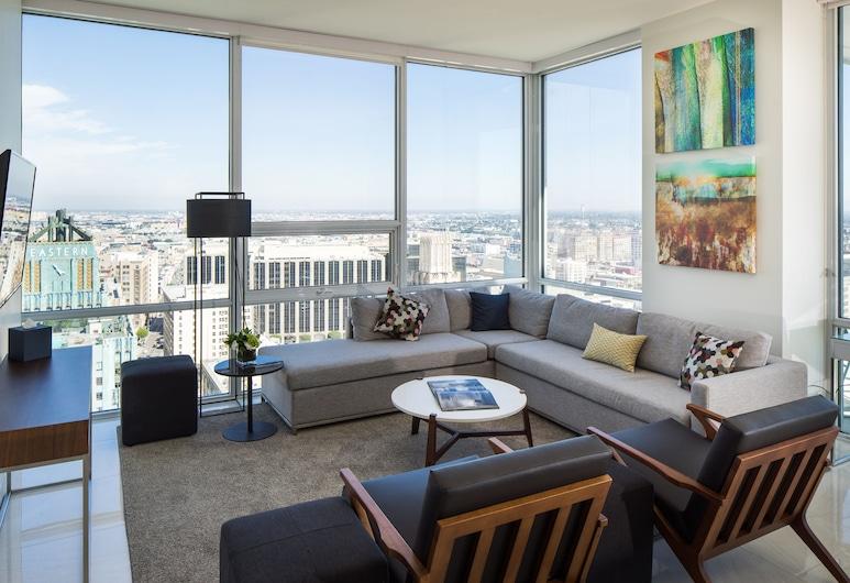 LEVEL Los Angeles Downtown - South Olive , Los Angeles, Executive Oda, 2 Yatak Odası (Corporate), Oturma Odası