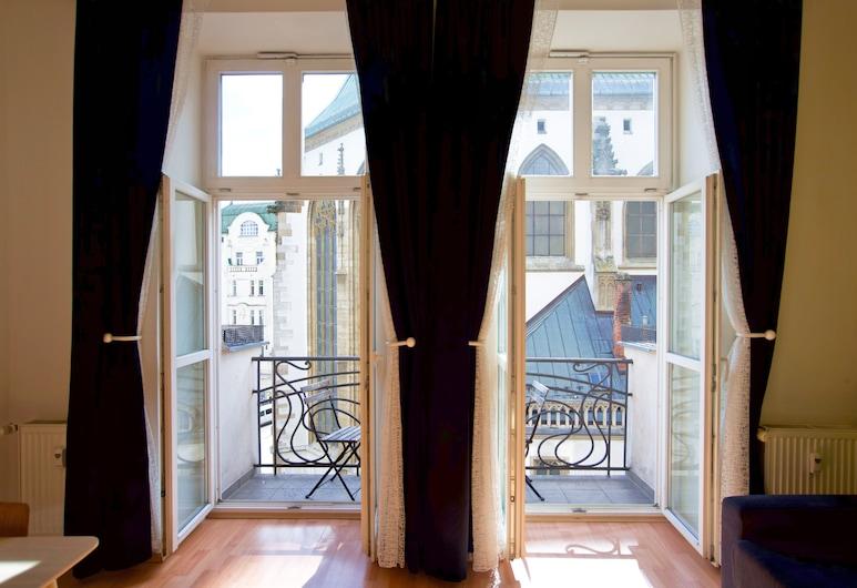 Penzion and Apartments Jacob, Brno, Apartment, 1 Bedroom, Balcony, City View, Living Room