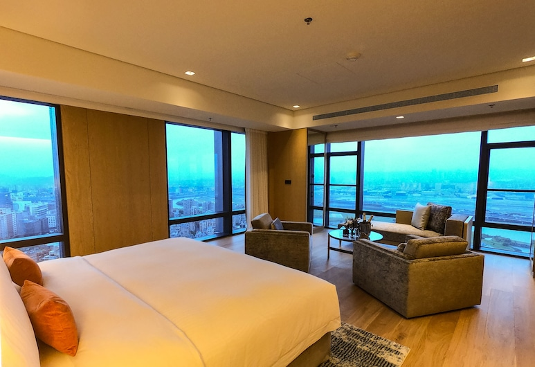 Taipei Marriott Hotel, Taipei, Executive suite, 1 kingsize bed, Toegang tot business lounge, Kamer