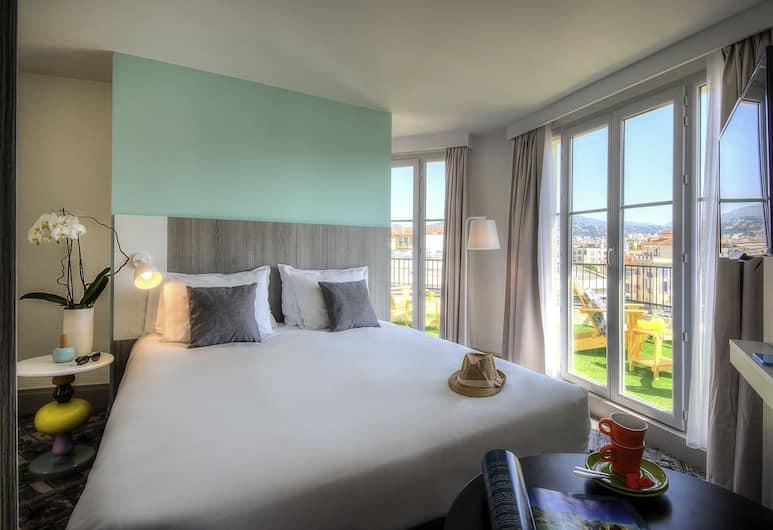 Ibis Styles Nice Centre Gare, Nica, Soba, terasa, pogled na grad, Pogled iz sobe za goste