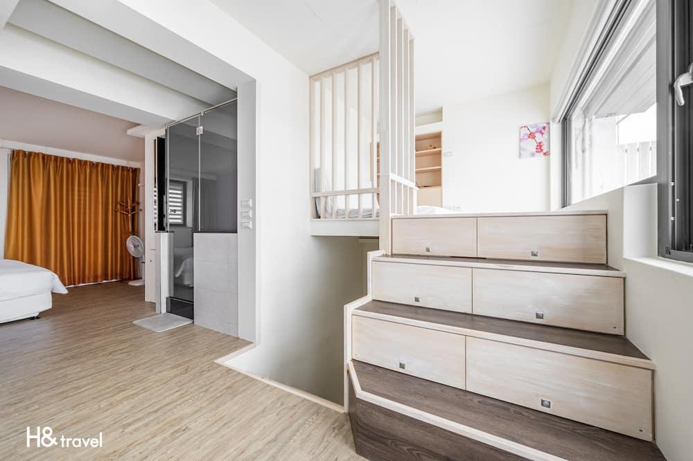 Pokoj Deluxe s dvojlůžkem, výhled na oceán - Obývací prostor
