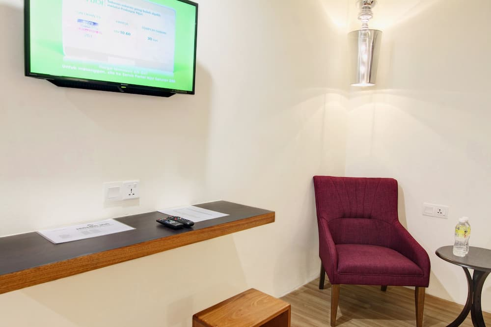 Design szoba kétszemélyes ággyal, 1 hálószobával - Nappali rész