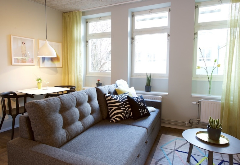 Asplund Hotel Apartments, Solna, อพาร์ทเมนท์, 2 ห้องนอน, ห้องครัวขนาดเล็ก, ห้องนั่งเล่น