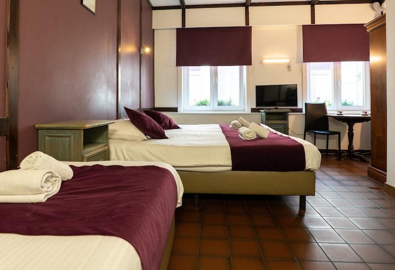 Flandria Hotel, Gante, Habitación triple, baño privado, Habitación