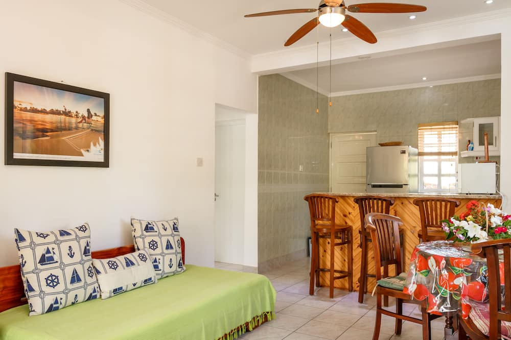 Family Apartment, Multiple Beds, Kitchen - Living Area