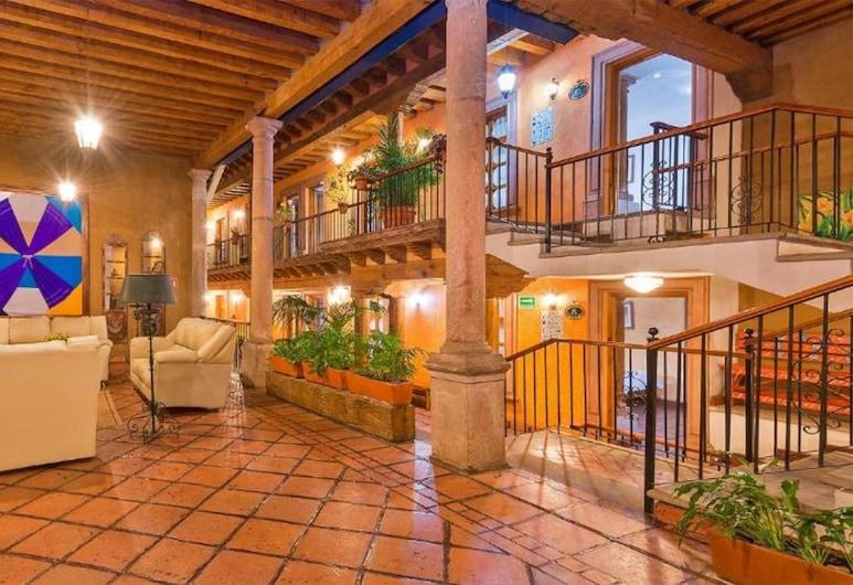 Hotel Refugio del Angel, Patzcuaro, Posezení ve vstupní hale