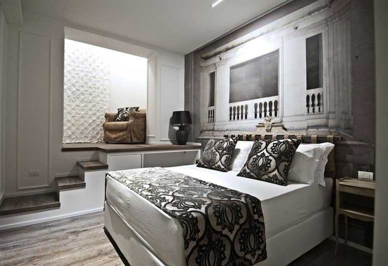 BdB Luxury Rooms Trastevere Torre, Roma, Kamar Double Superior, hot tub, Area Keluarga