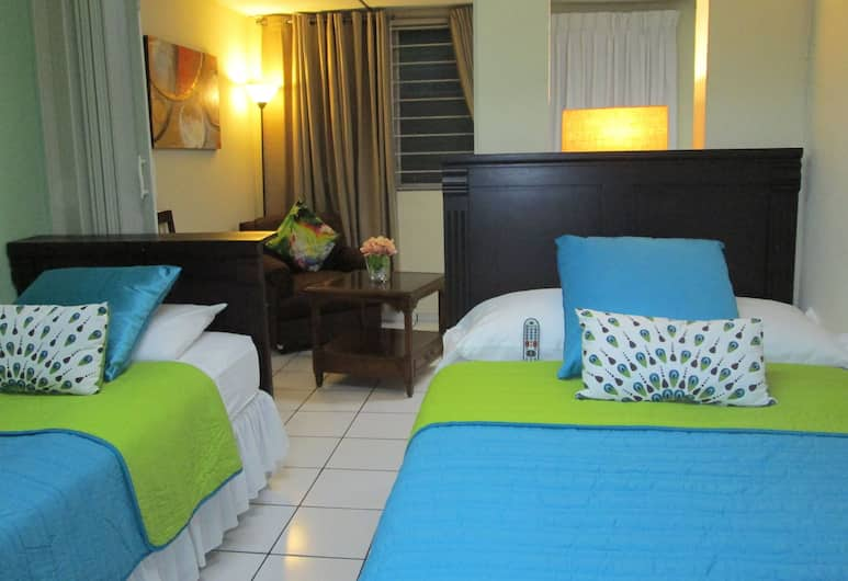Hotel San Mateo, San Salvador, Family Double or Twin Room, 1 Bedroom, Private Bathroom, Tower, Guest Room