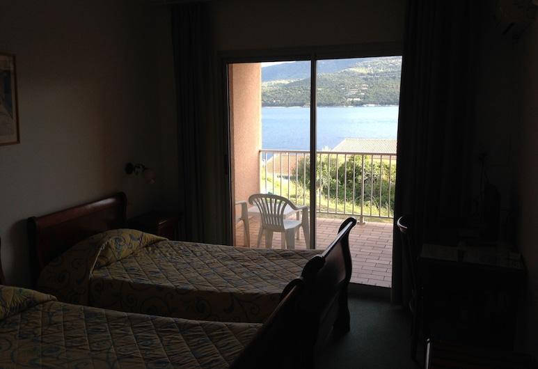 Hôtel Hibiscus, Propriano, Dvojlôžková izba, výhľad na more, Hosťovská izba