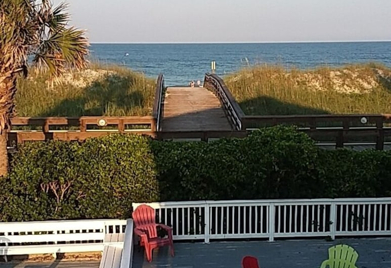 SeaWitch Motel, Carolina Beach, Habitación Premium, 2 camas dobles, para no fumadores, vista al mar, Terraza o patio