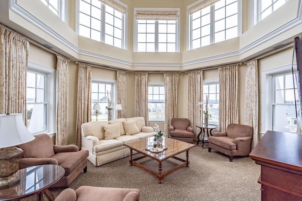 Panorama-suite - 1 kingsize-seng med sovesofa - søudsigt - Opholdsområde