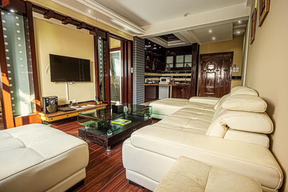 套房, 1 張特大雙人床, 非吸煙房, 廚房 (Separate Lounge) - 客廳