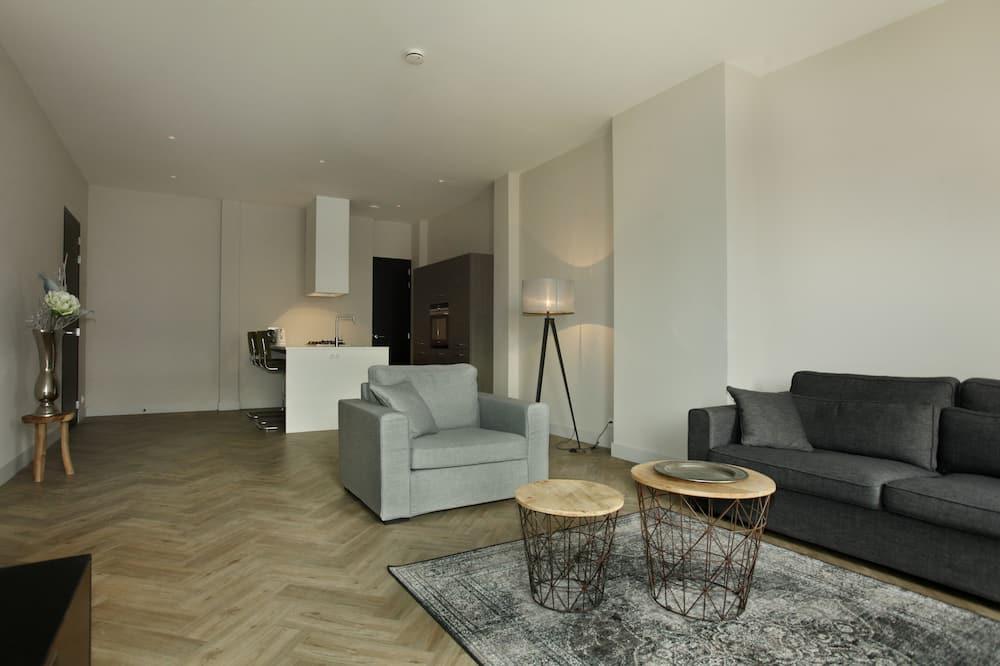 Leilighet – premium, 1 soverom, balkong, utsikt mot hage - Oppholdsområde