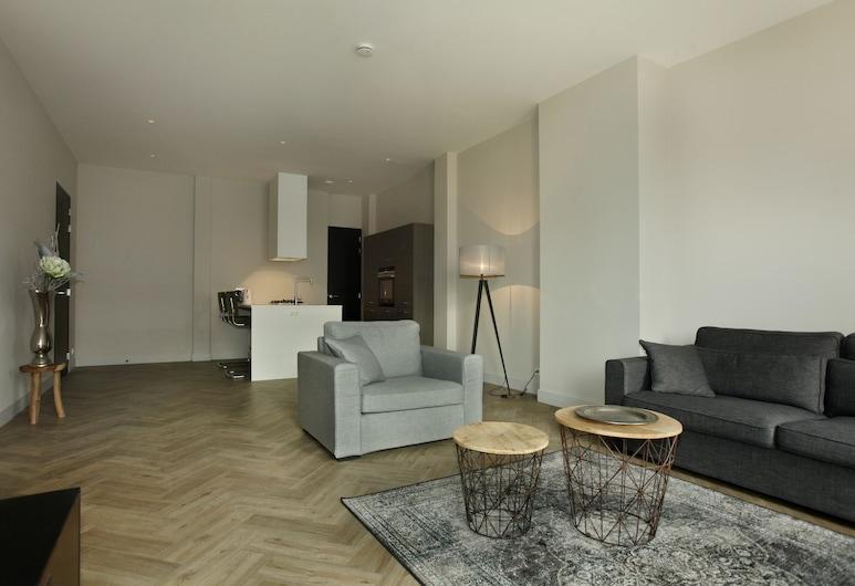 Stayci Apartments Westeinde, Haag, Apartmán typu Premium, 1 ložnice, balkon, výhled do zahrady, Obývací prostor