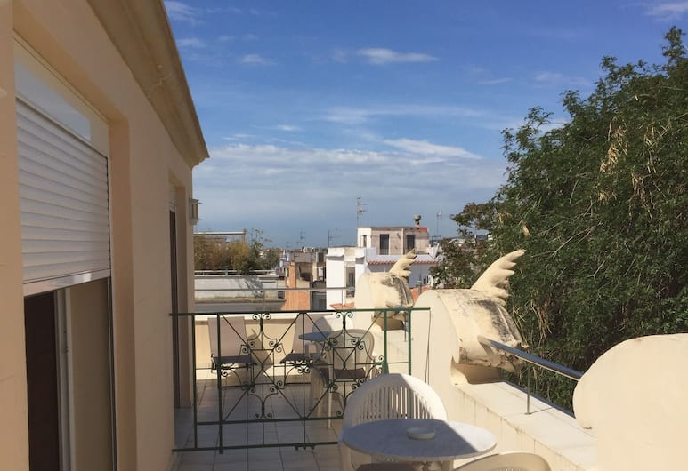 Hotel Noucentista, Sitges, Kamar Double Standar, teras, Teras/Patio