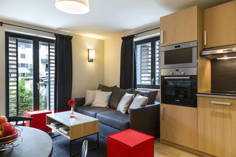 Apartman, 2 spavaće sobe, pogled na planinu - Dnevna soba