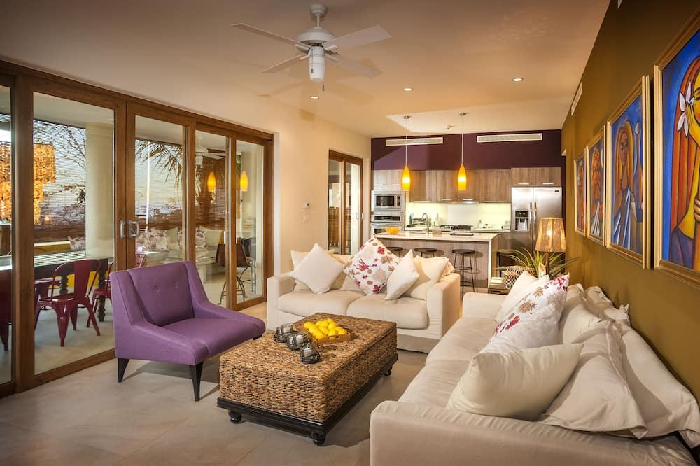 Apartamento de lujo, 3 habitaciones, vistas al mar - Zona de estar