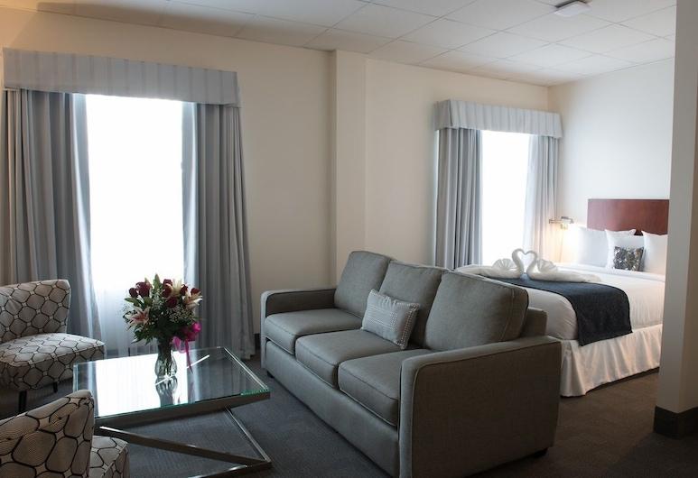 Park Centre & Hotel, Sherwood Park, Fireplace Suite, Living Area