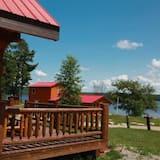 Namiņš, trīs guļamistabas, virtuve, skats uz upi (Loft/The Log Cabin) - Balkons