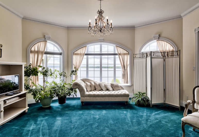 Greystone on Golden Lake, North Algona Wilberforce, Suite Romântica, 1 cama king-size, Vista Lago, Quarto