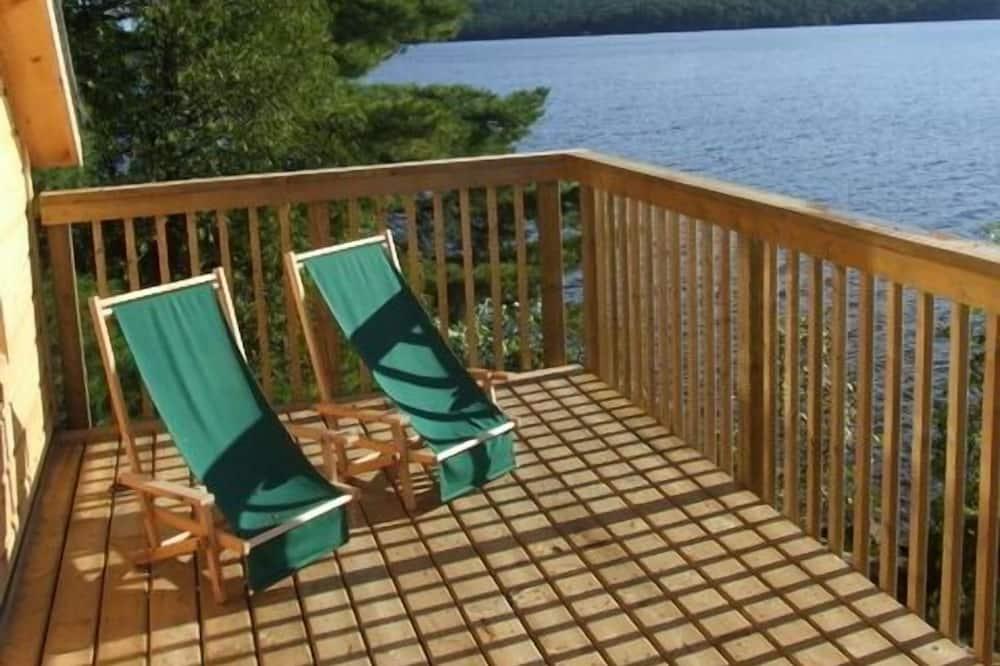 Romantična kućica, 1 queen size krevet, sauna, pogled na jezero - Terasa/trijem