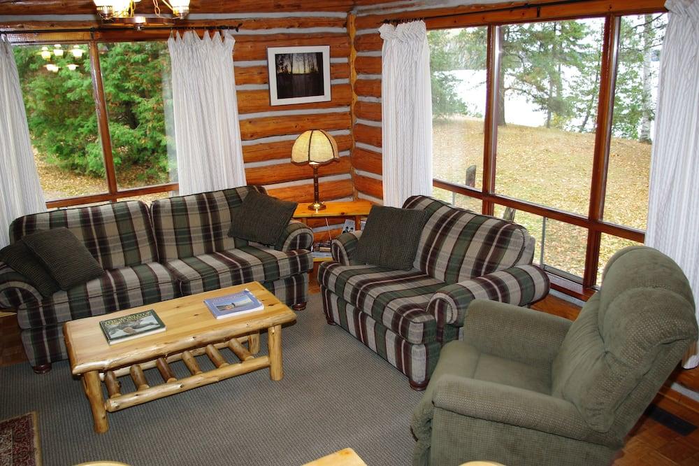Ferienhütte, 3Schlafzimmer, Küche, Seeblick (Cabin 5) - Wohnzimmer