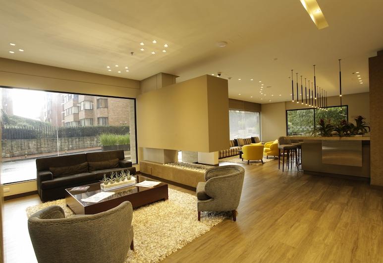 Bs Rosales Hotel And Suites, Bogotá, Sitteområde i lobbyen