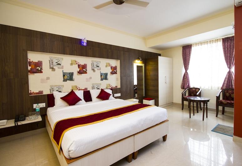 오요 437 호텔 바스타브 컴포트 인, 벵갈루루, 스탠다드 더블룸 또는 트윈룸, 더블침대 1개, 전용 욕실, 객실