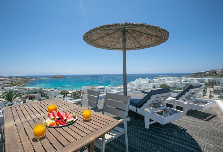 The George Hotel, Mykonos, Chambre Familiale, 2 chambres, balcon, vue mer, Chambre