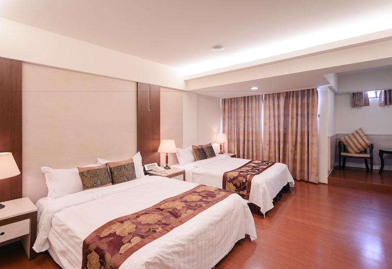 華登商務大飯店, 台中市, 家庭客房, 2 張標準雙人床, 客房