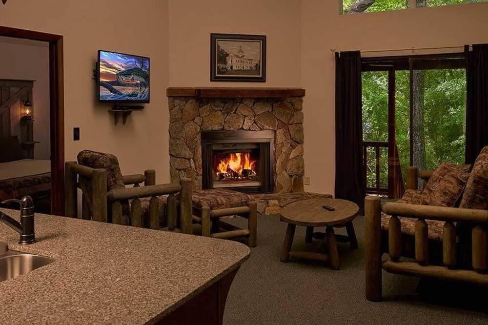 Suite, 2 camere da letto, vista lago (Cabin) - Area soggiorno