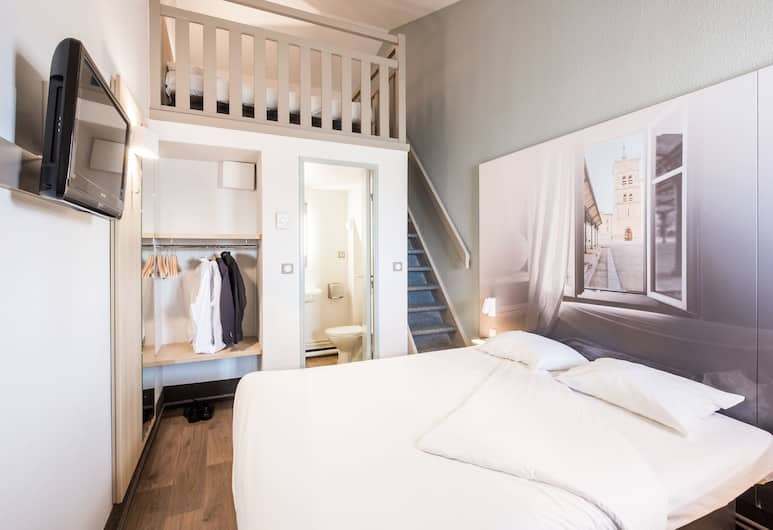 B&B Hôtel FREJUS Puget-sur-Argens, Frejus, Vierpersoonskamer, Meerdere bedden, niet-roken, Kamer