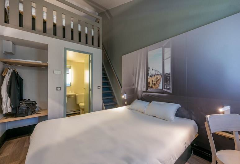 B&B Hôtel Bordeaux Sud, Villenave-d'Ornon, Chambre Quadruple, plusieurs lits, non-fumeurs, Chambre