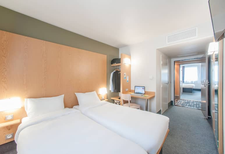 B&B Hôtel MONTPELLIER Centre Le Millénaire, Montpellier, Chambre avec lits jumeaux, 2 lits une place, non-fumeurs, Chambre