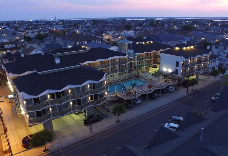 Ala Moana Motel, Wildwood, Hotel Front – Evening/Night
