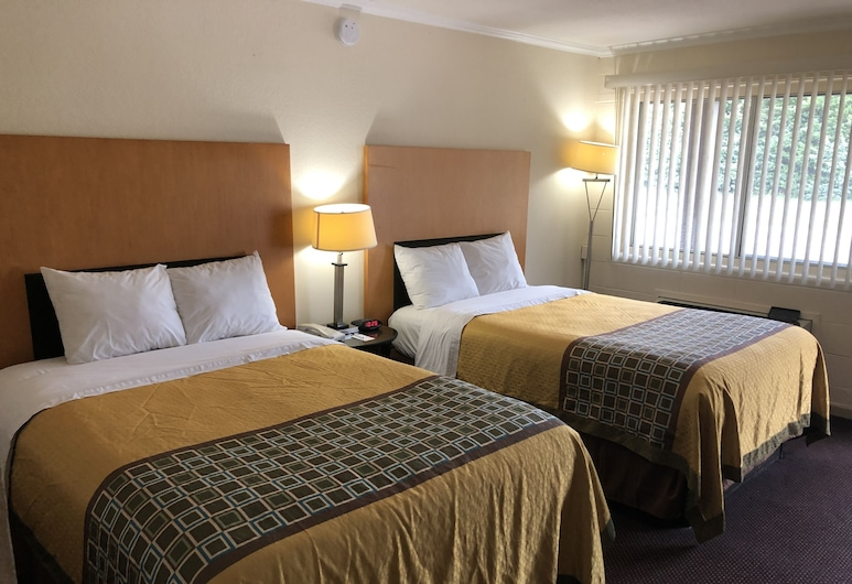 Great Western Inn Suites, Junction City, Zimmer, 2Doppelbetten, Zimmer