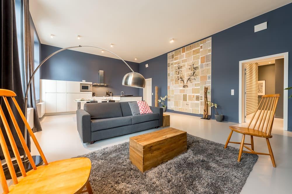 Superior-lejlighed - 2 soveværelser - Opholdsområde