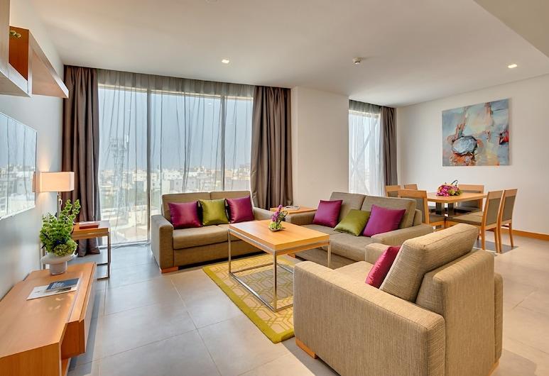 Citadines Al Salamah Jeddah, Jeddah, Deluxe Room, 2 Bedrooms, Living Room