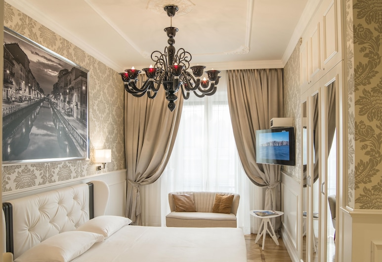 Luxury Duomo Rooms, Milan, Chambre Double Deluxe, 1 lit double, Chambre