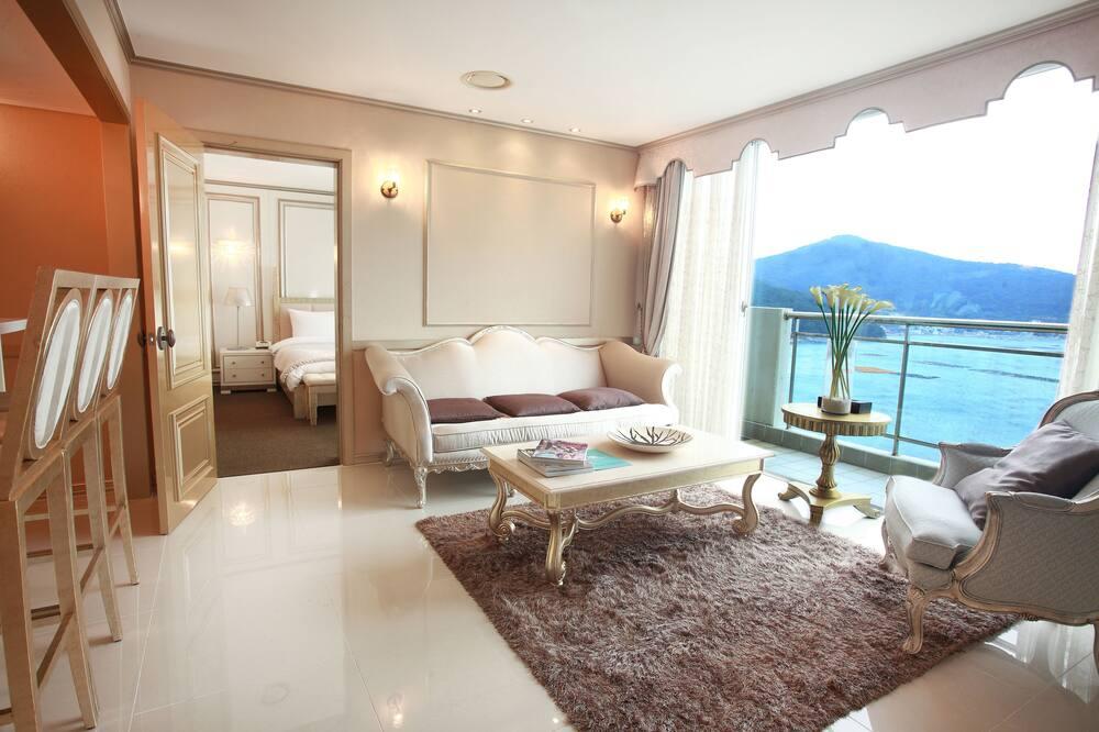 Prezidentský apartmán, 2 spálne, nefajčiarska izba, výhľad na more - Obývacie priestory