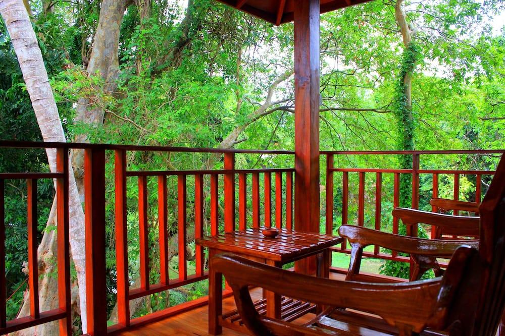 Casa na Árvore Deluxe, 1 cama king-size, Vista Rio - Varanda