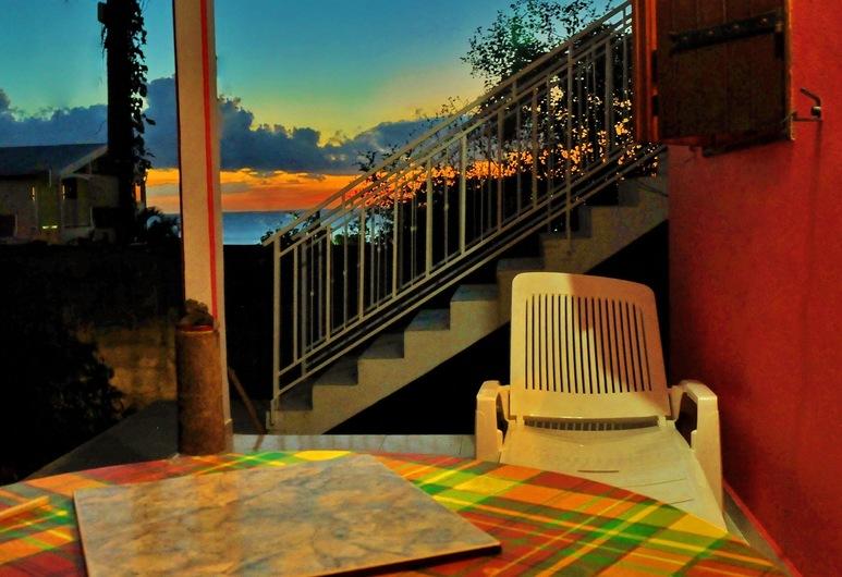 Les Merveilleux flots de la Mer, Deshaies, Apartmán typu Classic, 1 spálňa, Terasa