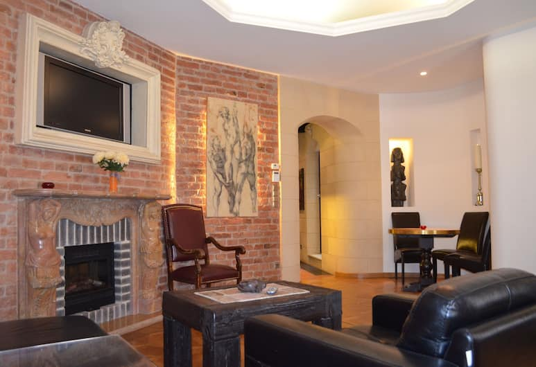 Citadella Residence Appartments Vienna, Vienna, Exclusive Suite, 1 King Bed, Smoking, Living Room