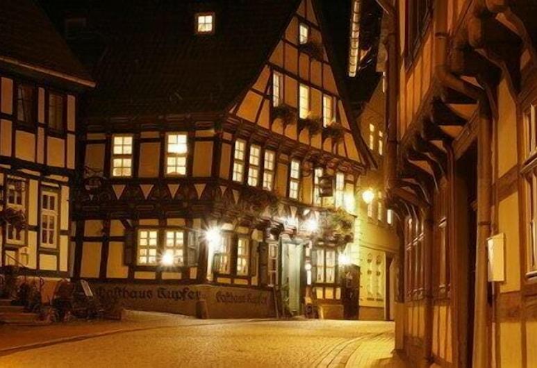 Gasthaus Kupfer, Südharz, Viesnīcas priekšskats vakarā/naktī