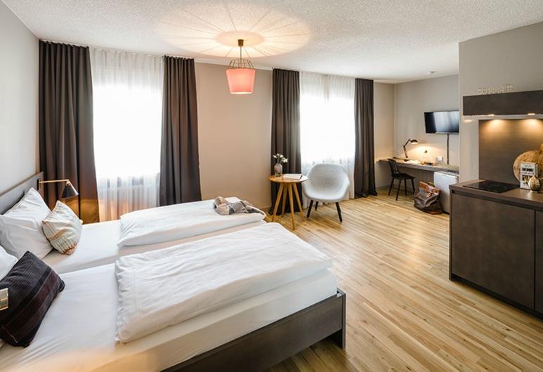 BOLD Hotel Frankfurt an der Messe, Frankfurt, Standard-Apartment, 1King-Bett, Nichtraucher, Küche, Zimmer