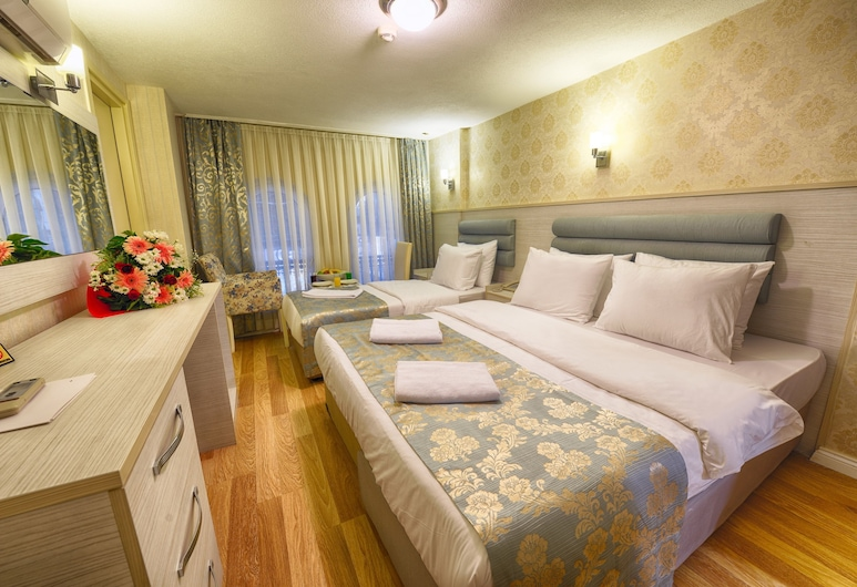 Florenta Hotel, Istanbul, Tremannsrom – family, Gjesterom