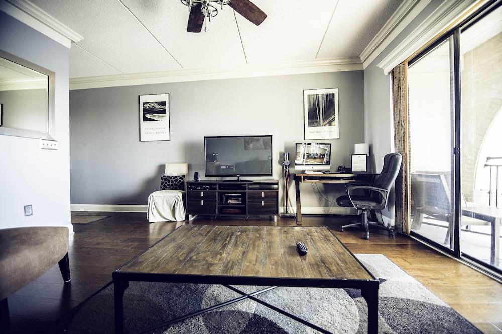 Condominio Prestigio, 1 habitación, cocina, vista al río (Condo 9) - Sala de estar