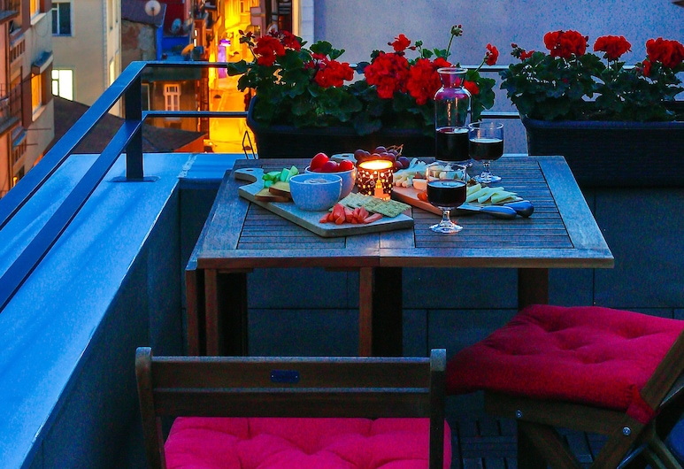 Hammamhane, Istanbul, Apartmán, terasa, Výhľad z izby