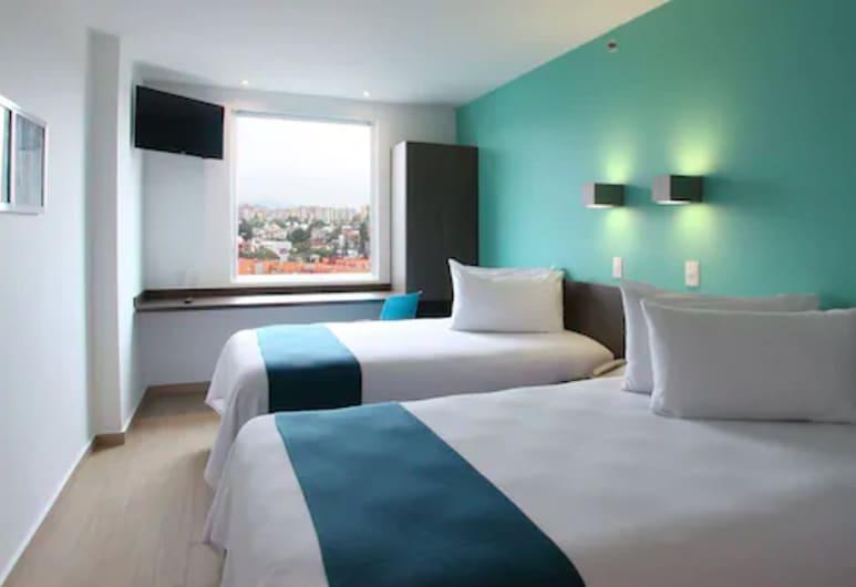 One Ciudad de México Periférico Sur, Mexico, Chambre Supérieure avec lits jumeaux, 2 lits une place, vue ville, Chambre