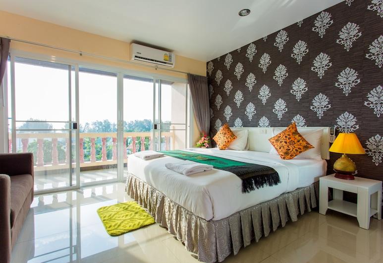 スリン サンセット ホテル, Choeng Thale, Double bed with sea view, 部屋